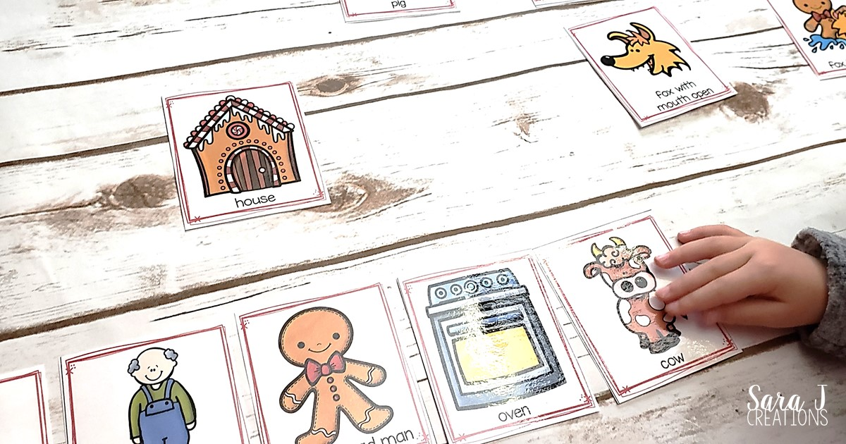 photograph relating to Printable Sequencing Cards titled Retelling The Gingerbread Male with Sequencing Playing cards Sara J