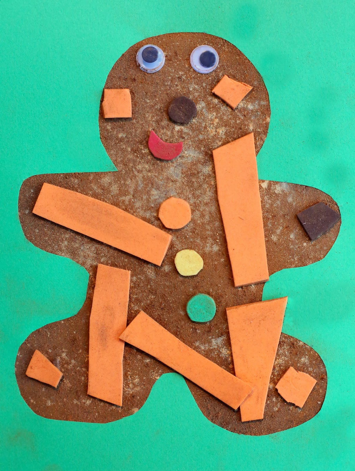 Christmas Craft For Kids Scented Gingerbread Man Art