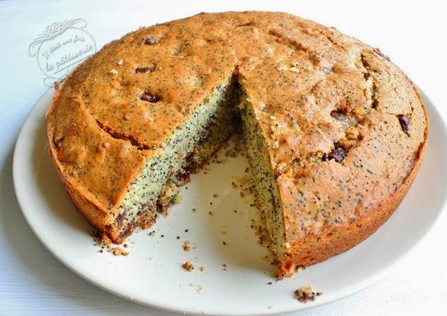 gâteau amandes chocolat au lait pavot