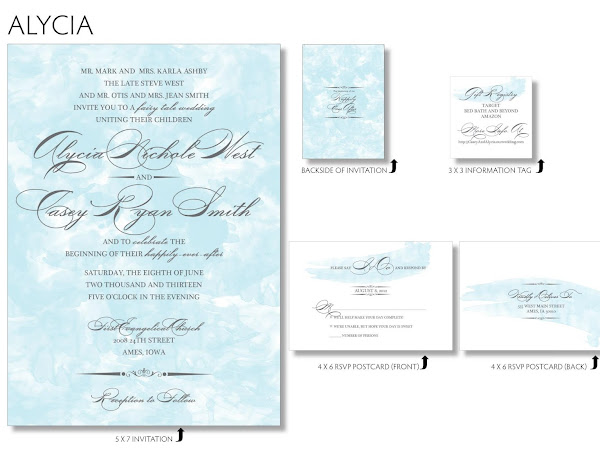 { Alycia - Water Color Wedding Invitation }