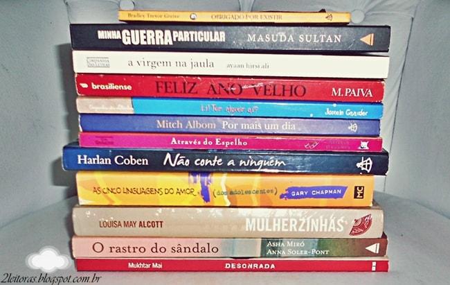 Livros trocados em feira de livros