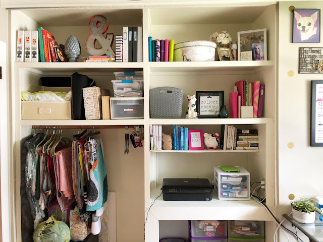 Organized and decorate home office bookshelves