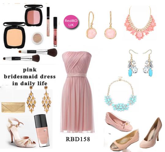 wear again pink bridesmaid  dresses