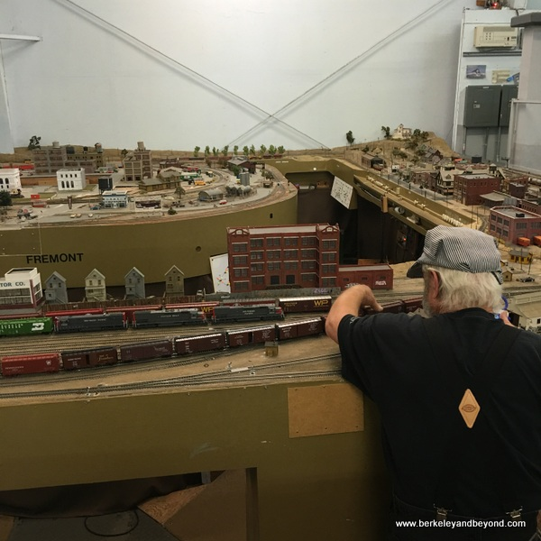 club member at Golden State Model Railroad Museum in Pt. Richmond, California