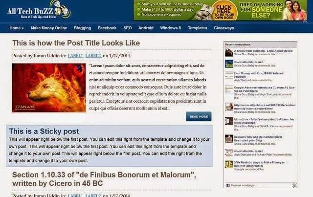 ATB Responsive Blogger Template (SEO Optimized)