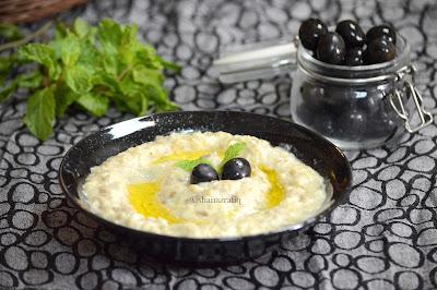 Mutabbal ~ Eggplant Dip ~ Arabic Dip