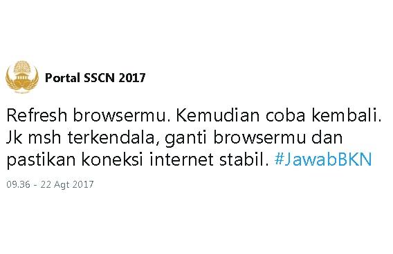 POrtal SSCN Sering Error