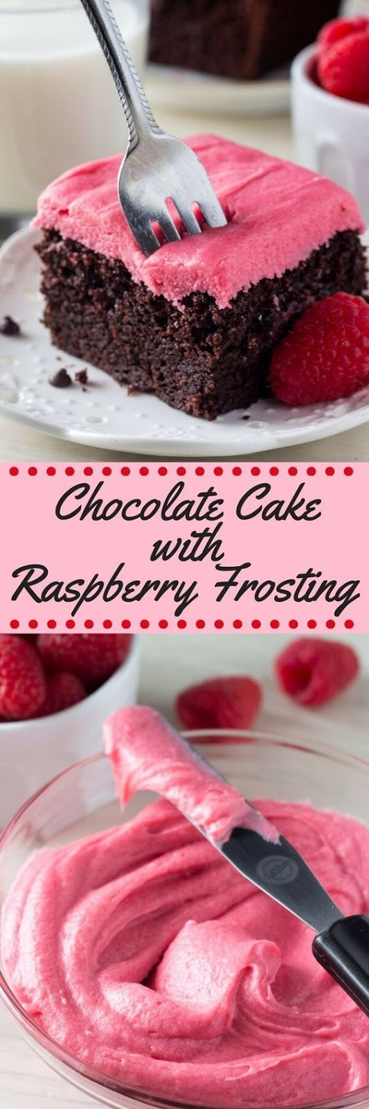 Fudgy Chocolate Cake with Raspberry Frosting Recipe