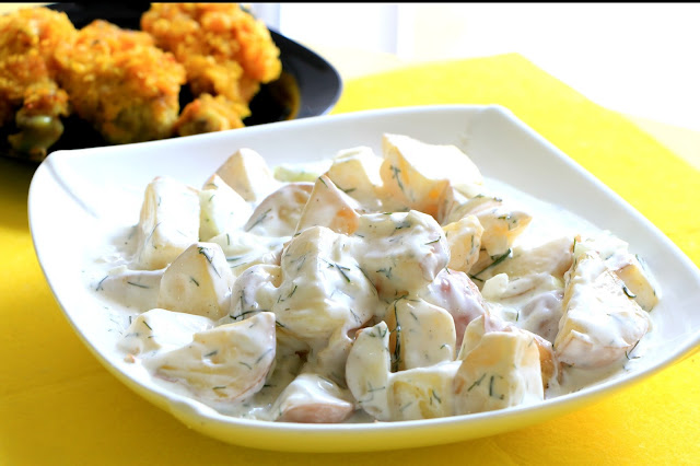 Krompir-salata-sa-jogurtom-i-mirođijom-na-pari