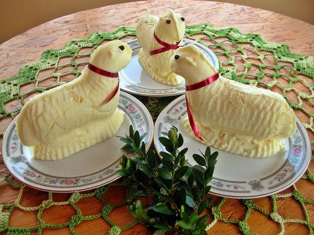 jak się robi baranki z masła?