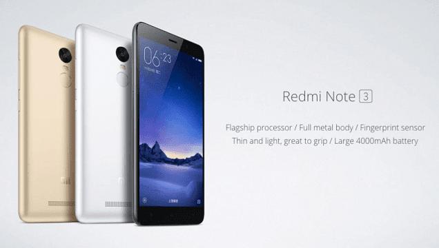 Spesifikasi lengkap Xiaomi Redmi Note 3