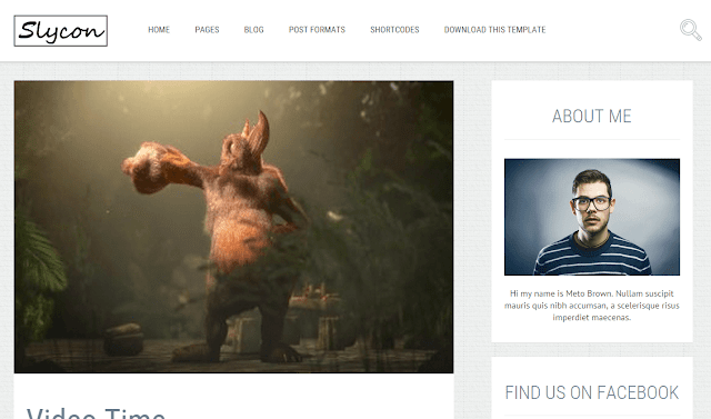 Sycoon Blogger Template