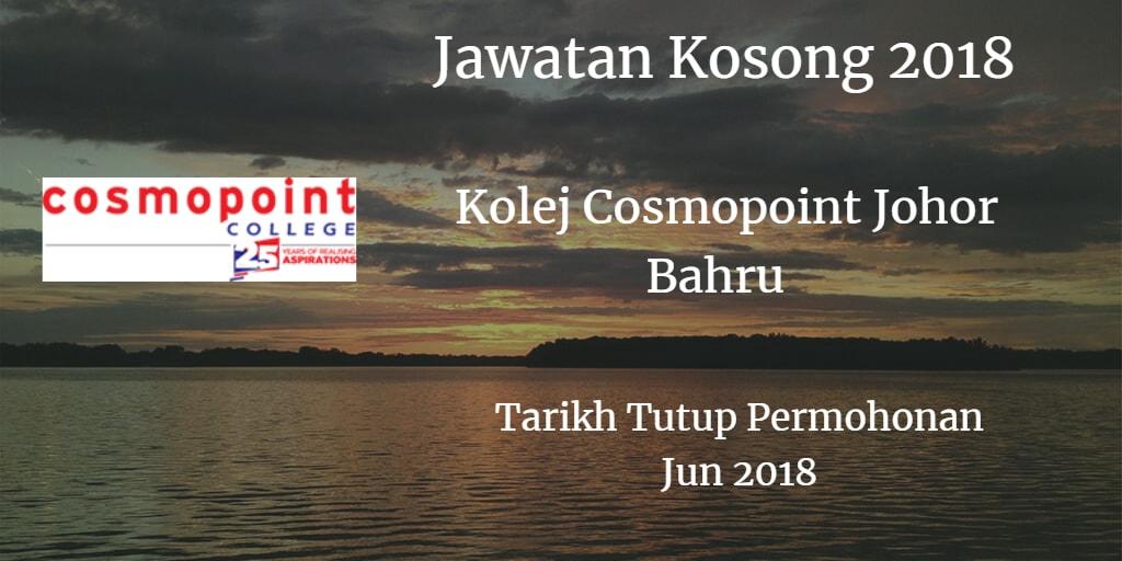 Jawatan Kosong Kolej Cosmopoint Johor Bahru Jun 2018
