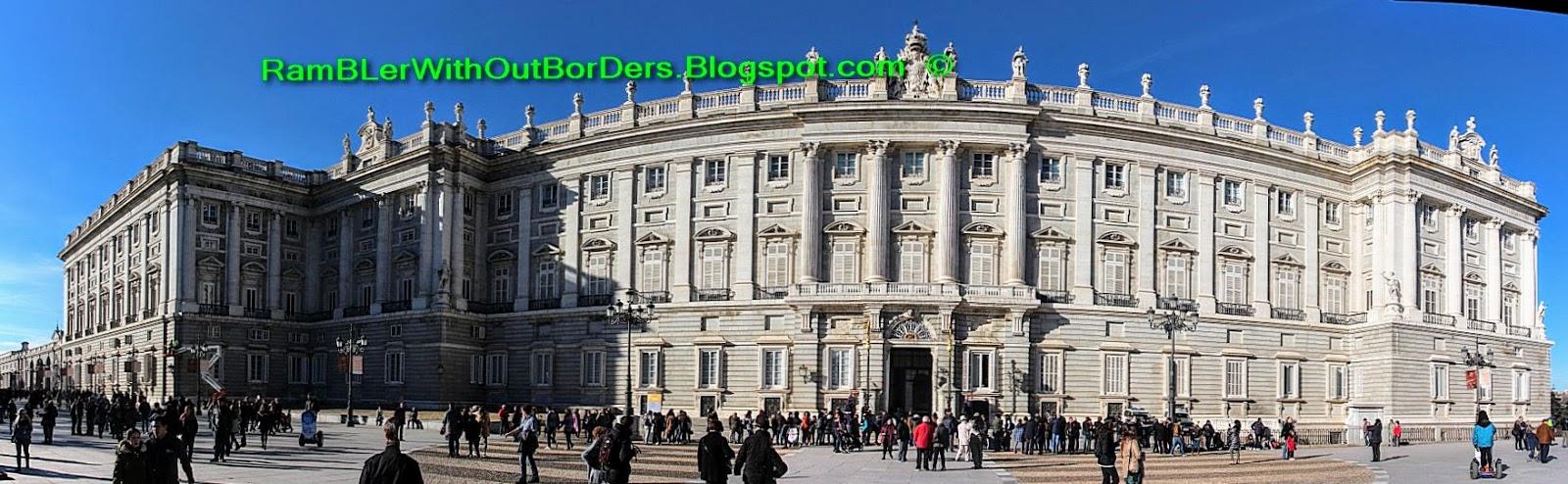 Panorama, Royal Palace, Madrid, Spain