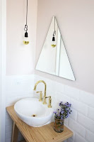 triangle vanity mirror