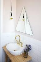 triangle vanity mirror