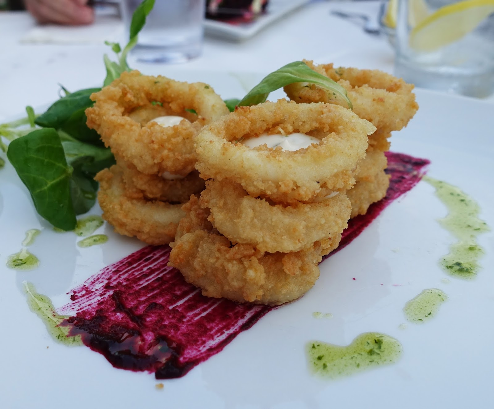 A tasty calamari starter from The Windmill Restaurant, Skiathos