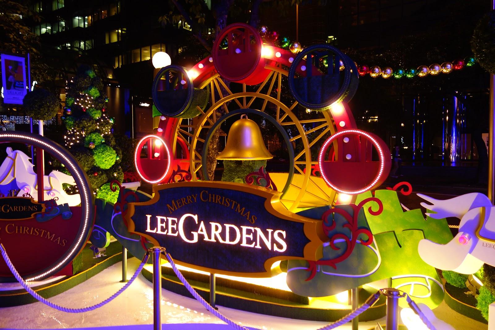 日訪愛祈: 聖誕節影相位逐個捉:Lee Gardens 綠色聖誕