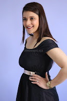 Mannara Chopra in Short Off Shoulder Black Dress ~  Exclusive 018.JPG