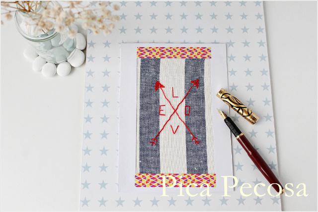 tarjeta-san-valentin-diy-papel-washi-tape-tela-flechas-bordadas
