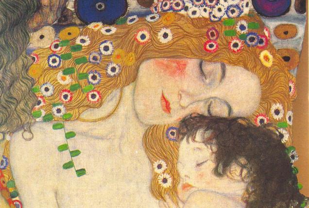 vanessa lekpa , la mère et l'enfant en art gustav klimt tableau