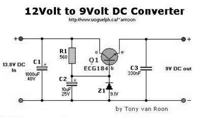 dc to dc converter 12v 9v circuit diagram simple schematic collection rh simple schematic blogspot com AC to 12V DC Converter Schematic DC Boat Wiring Diagram
