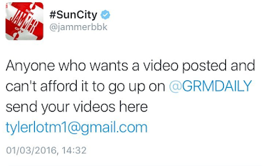 JAMMER GOES AT SBTV & GRM DAILY WITH #PLATFORMFORTHEYOUTH TWITTER RANT. GRM DAILY RESPONDS