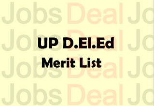 UP D.El.Ed Merit List 2018