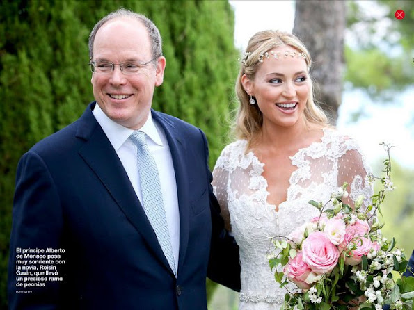 Prince Albert of Monaco and Princess Charlene of Monaco attended the wedding of Gareth Wittstock and Roisin Gavin at the Principality's City Hall in Monaco