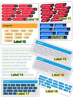 Label Blogspot keren dengan Kode CSS