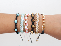 http://curlymade.blogspot.pt/2014/11/diy-5-different-square-knot-bracelets.html