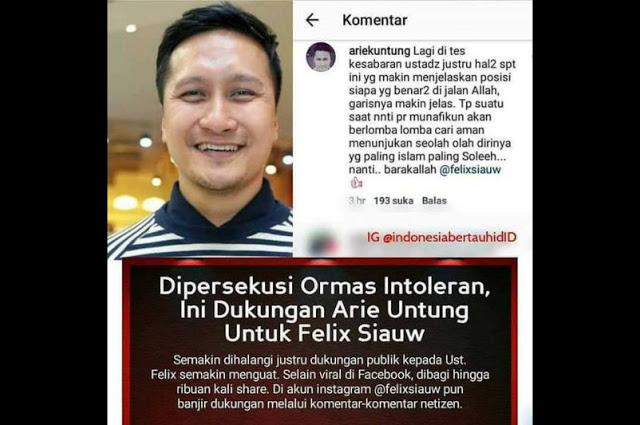 Arie Untung : Suatu Saat Nanti Para Munafikun Akan Berlomba lomba Cari Aman Menunjukkan Seolah Dirinya Paling Islami