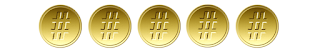 5 de 5 medalhas #tas