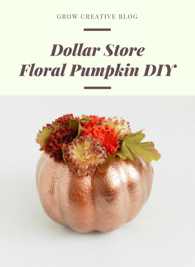 Dollar Store Floral Pumpkin DIY: grow creative blog