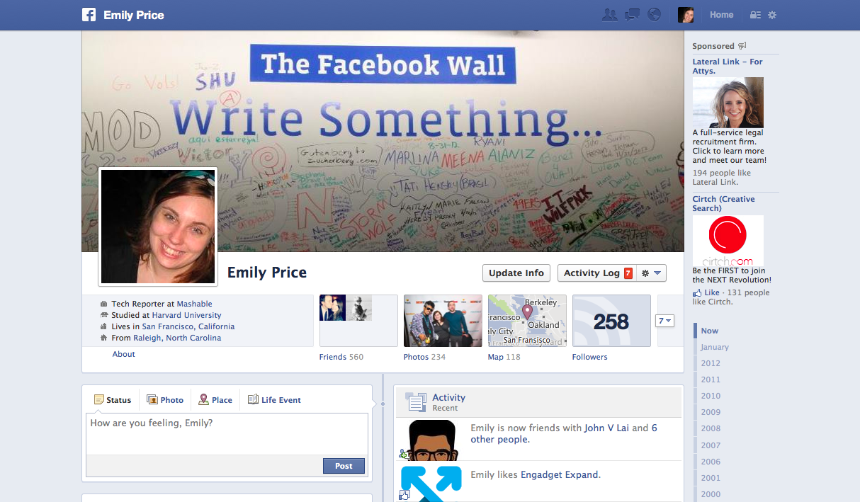 Facebook cambia biografia