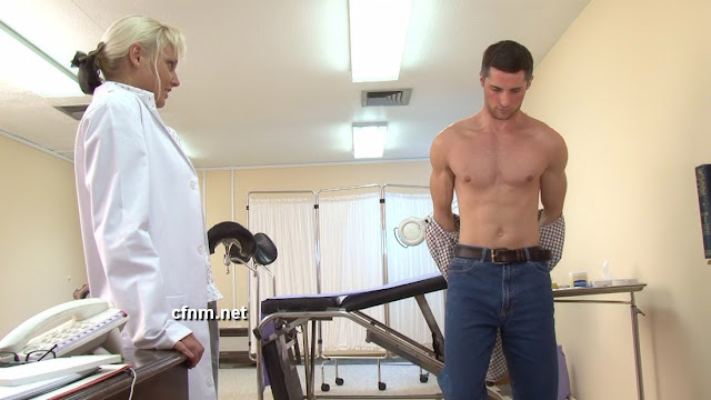 Male female patient doctor nude