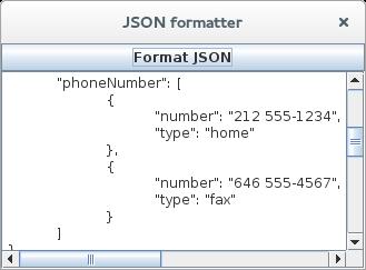 Talking Jas: Simple Java Swing JSON formatter