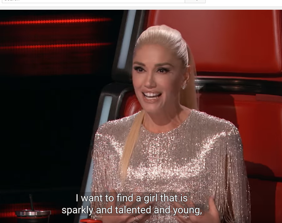 Gwen Stefani Mentioned Sparkly