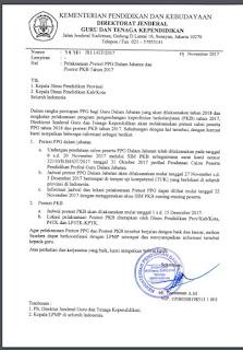 Surat Edaran Jadwal Pretest PPGDJ 2018