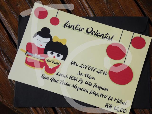Convite Padrão - Tema: Jantar Oriental