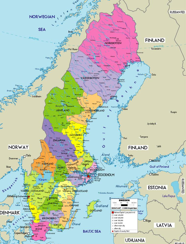 Karta Over Sverige Provinsen Bild Karta Over Sverige Geografisk