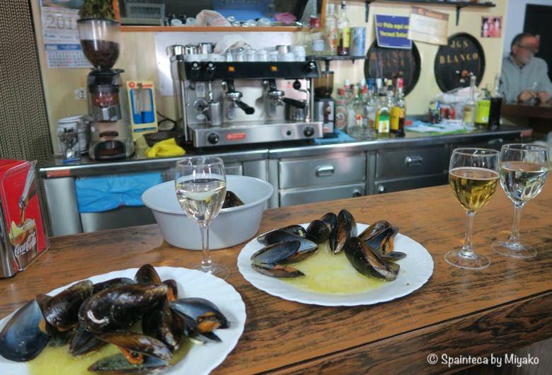 北スペインのアンチョビの名産地のムール貝タパス