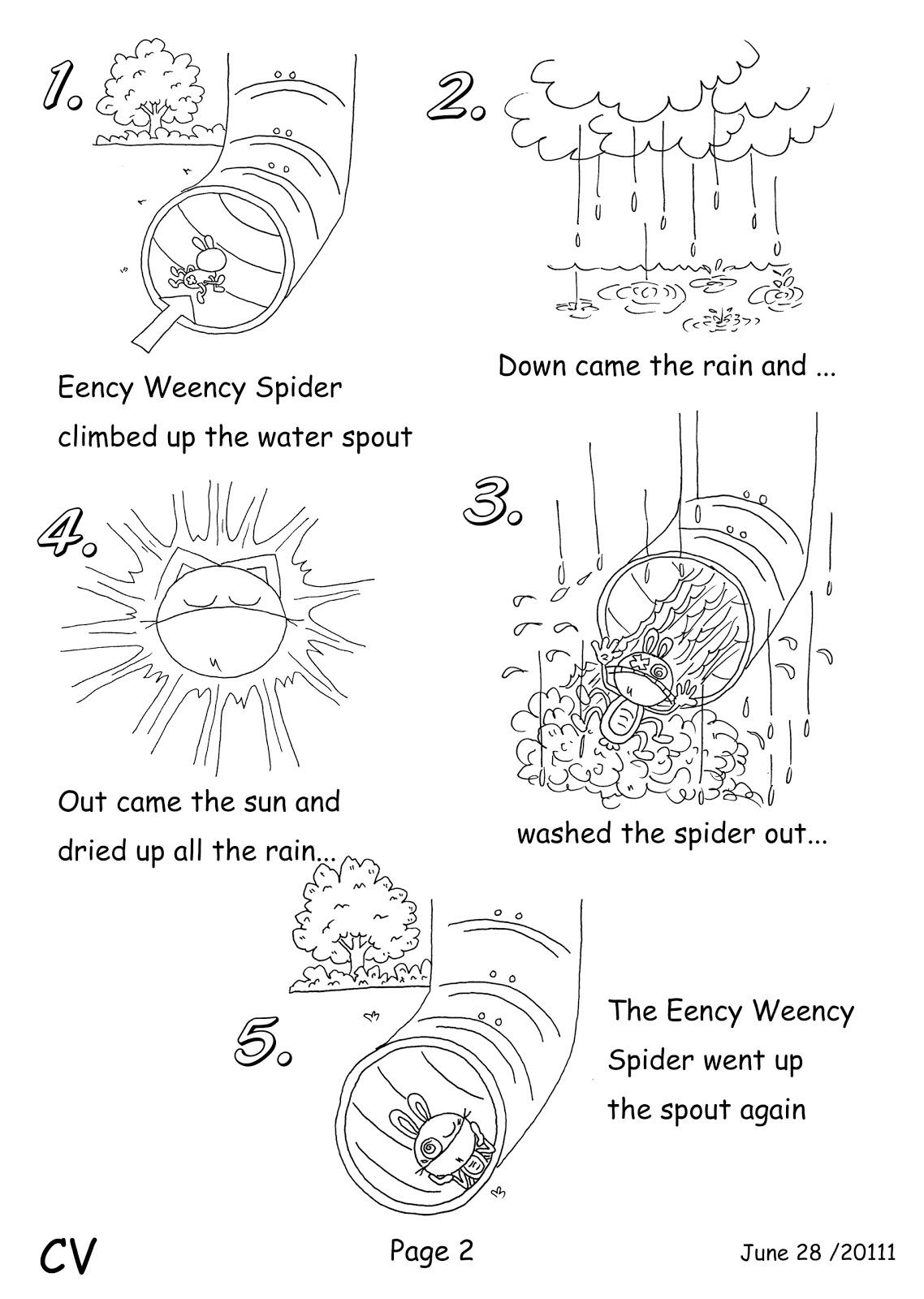 Workbooks spider worksheets : Canadian Voice English School Nagano: Baby Class ... Eency Weency ...