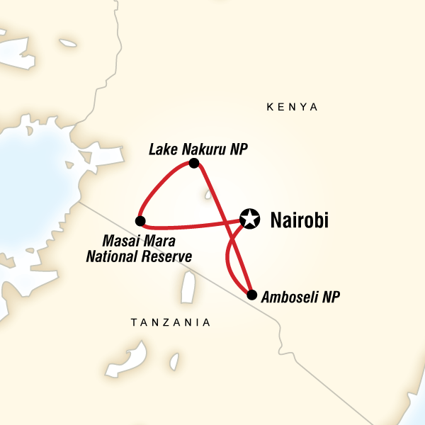 kenya national geographic adventure map