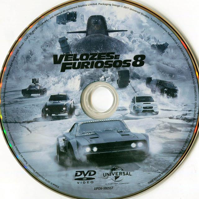 Label DVD Velozes e Furiosos 8