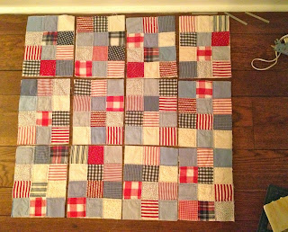 lay out quilt blocks