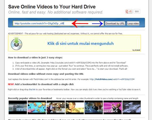 Download Video Youtube Tanpa Software (Via Fetchvideo)