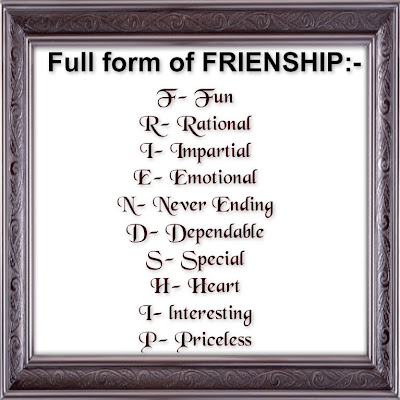 Fun Psychology Test Love  Awesome Quotes: Happy friendship day