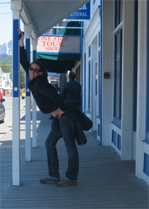Stanley Burton poses in Skagway AK
