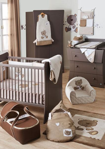 Dormitorios de beb en chocolate blanco y beige  Ideas para decorar disear y mejorar tu casa